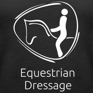 Equestrian_Dressage_white - Women's Premium Tank Top