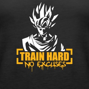 Goku Train Hard No Excuses - Women's Premium Tank Top