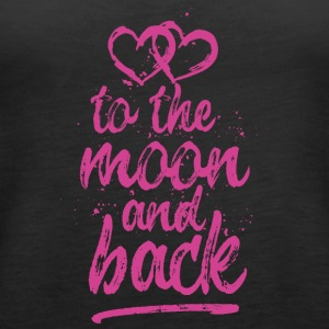 Love you To the moon and back - pink - Women's Premium Tank Top