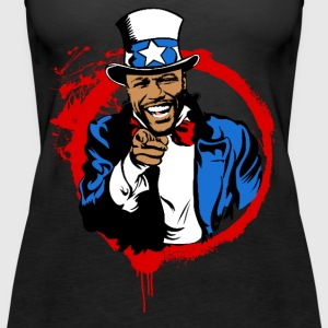 Floyd Mayweather Uncle Sam IRS Tax (Red Circle) - Women's Premium Tank Top