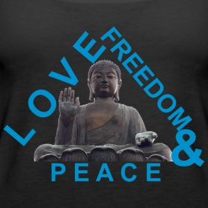 LOVE FREEDOM and PEACE - Women's Premium Tank Top