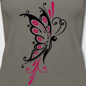Big filigree butterfly, wings, girlie Tattoo style - Women's Premium Tank Top