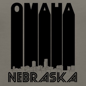 Retro Omaha Nebraska Skyline - Women's Premium Tank Top