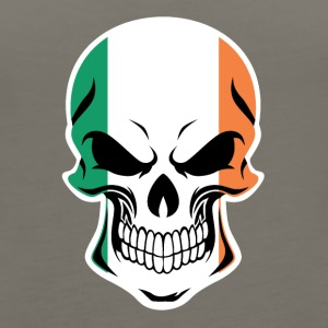 Irish Flag Skull - Women's Premium Tank Top