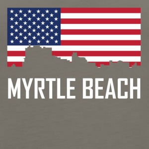 Myrtle Beach South Carolina Skyline American Flag - Women's Premium Tank Top