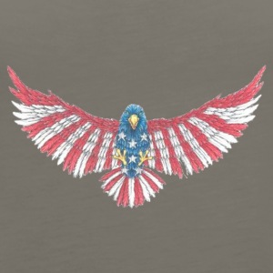 Fly America, Fly Eagle Flag - Women's Premium Tank Top