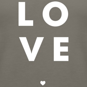 Love Stacked w/ A Heart (White Letters) - Women's Premium Tank Top