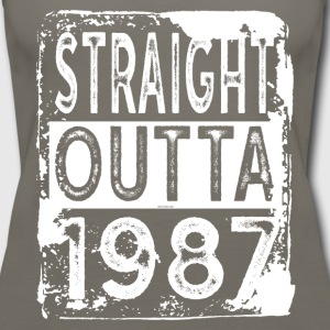 Gift for 30th Birthday Party: Straight Outta 1987 - Women's Premium Tank Top