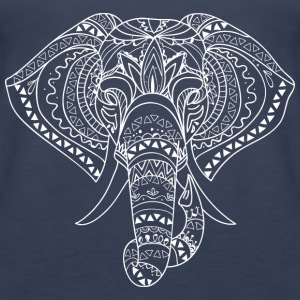 GIFT - ELEPHANT ART WHITE - Women's Premium Tank Top