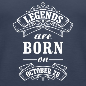 Legends are born on October 28 - Women's Premium Tank Top