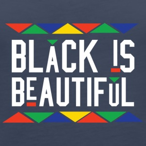 Black Is Beautiful (White Letters) - Women's Premium Tank Top