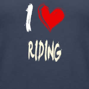 I love RIDING - Women's Premium Tank Top