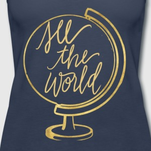 See The World - Women's Premium Tank Top