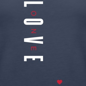 One Love (White/Red Letters) - Women's Premium Tank Top