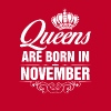 Queens Are Born In November Tshirt - Women's Premium Tank Top
