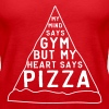 My mind says gym but my heart says pizza - Women's Premium Tank Top