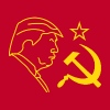 Trump Russia Hammer and Sickle - Women's Premium Tank Top