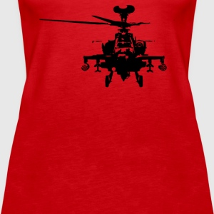 Military Attach Helicopter Gunship - Women's Premium Tank Top