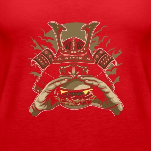 Samurai Burger. Fight for your right to burger! - Women's Premium Tank Top