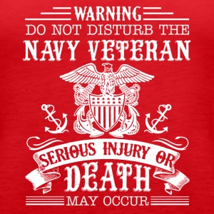 Navy Veteran Shirt - Women's Premium Tank Top