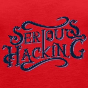 serious hacking decoration design - Women's Premium Tank Top