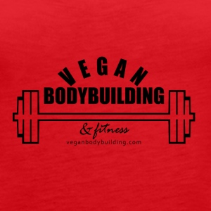 Vegan Bodybuilding & Fitness logo - Women's Premium Tank Top