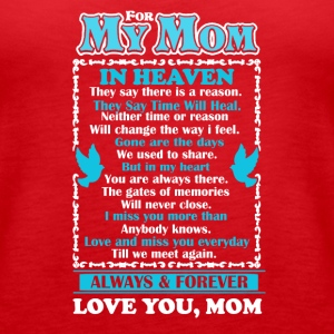 Mom In Heaven Shirt - Women's Premium Tank Top