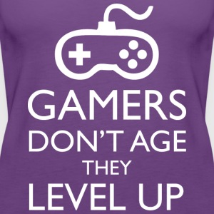 Gamers Don t Age They Level Up T Shirt - Women's Premium Tank Top