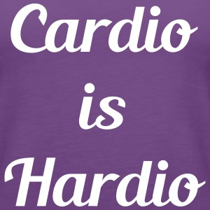 Cardio is hardio funny womens workout shirt