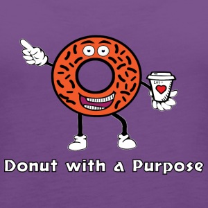 Donut with a Purpose White Ink - Women's Premium Tank Top