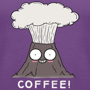Coffee Volcano - Women's Premium Tank Top