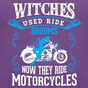 Motorcycle Witch Broom - Women's Premium Tank Top