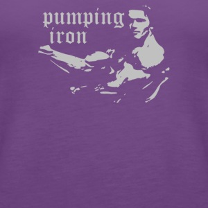 PUMPING IRON - Women's Premium Tank Top