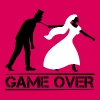 game over bride and groom wedding stag night - Women's Premium Tank Top
