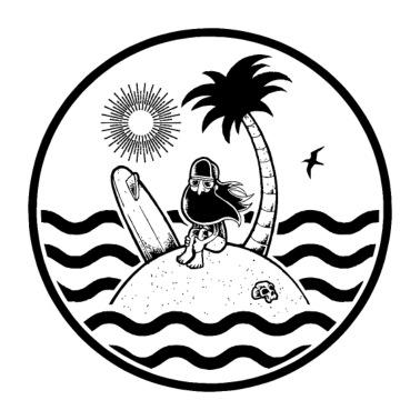 Surf Club Womens Rolled Sleeve T Shirt