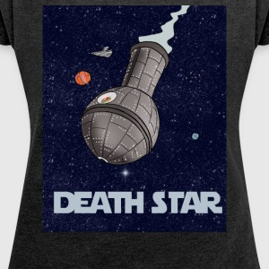 Death Star - Women's Roll Cuff T-Shirt