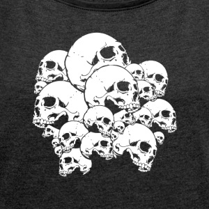 Many skulls - Women's Roll Cuff T-Shirt
