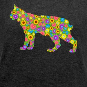 Bobcat Tee Shirt - Women's Roll Cuff T-Shirt
