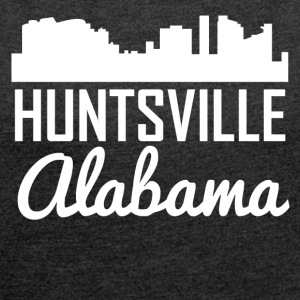Huntsville Alabama Skyline - Women's Roll Cuff T-Shirt