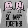 Keyboard keys smiley - So happy together - Women's Roll Cuff T-Shirt