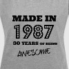 Made in 1987 - 30th bday - Women's Roll Cuff T-Shirt