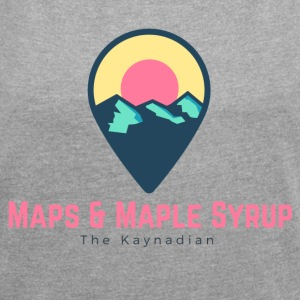 Maps and Maple Syrup Destination - Women's Roll Cuff T-Shirt