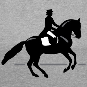 Dressage Rider - Women's Roll Cuff T-Shirt
