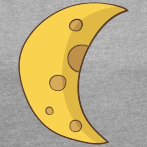 moon - Women's Roll Cuff T-Shirt