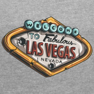 las_vegas_casino - Women's Roll Cuff T-Shirt
