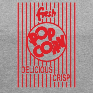 Popcorn - Women's Roll Cuff T-Shirt
