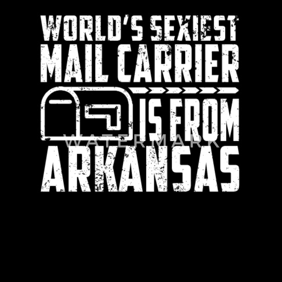 Sexy Mailman Gifts For Your Mail Carrier Arkansas Womens Roll Cuff T Shirt Black
