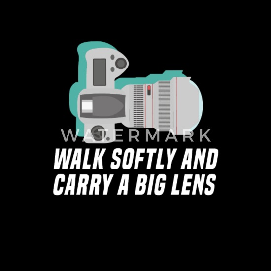 Funny Photography Puns Walk Softly Camera Womens Rolled