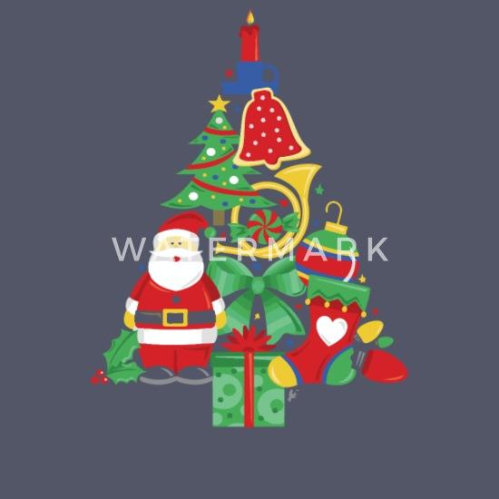 Christmas Santa Gift Tree Mens Xmas Made Of Bells Stocking Funny Present T Shirt