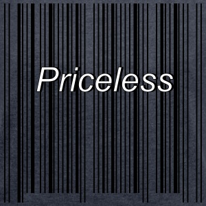 priceless barcode - Women's Roll Cuff T-Shirt